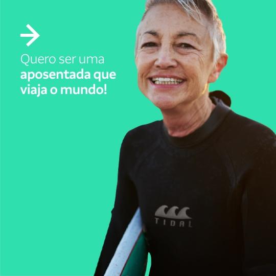 Saúde financeira: Quero ser uma aposentada que viaja o mundo!